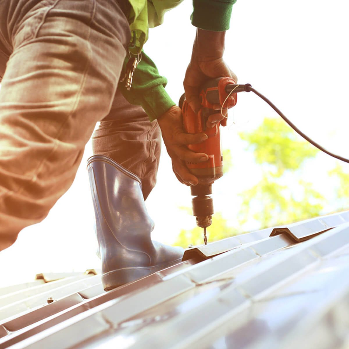 Man Installing Roof