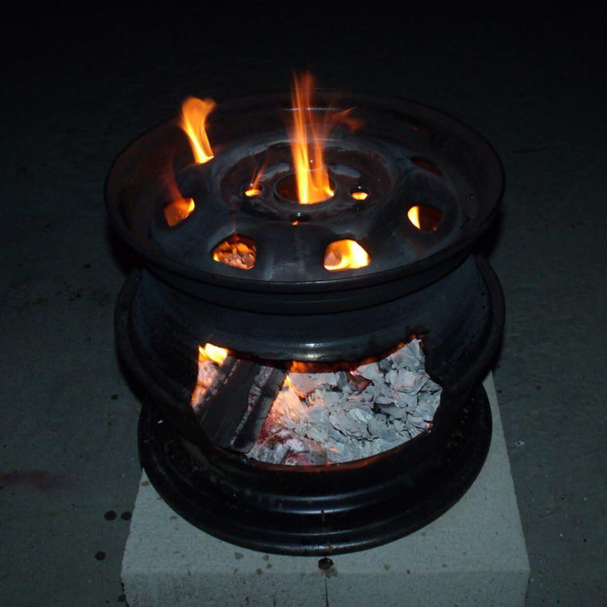 Steel Tire Rim fire pit