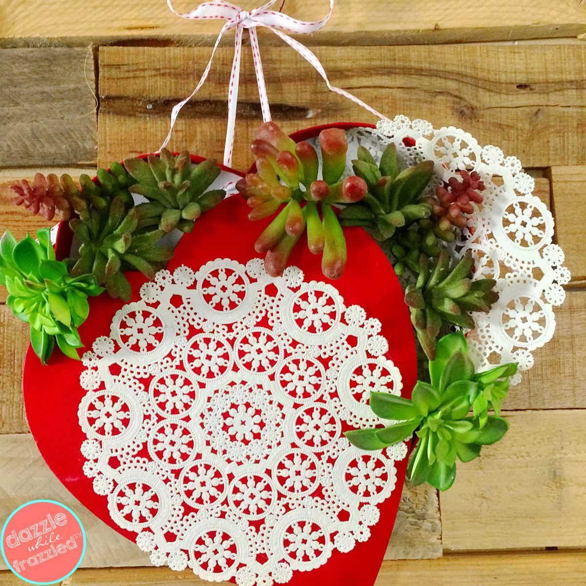 succulent valentine wreath