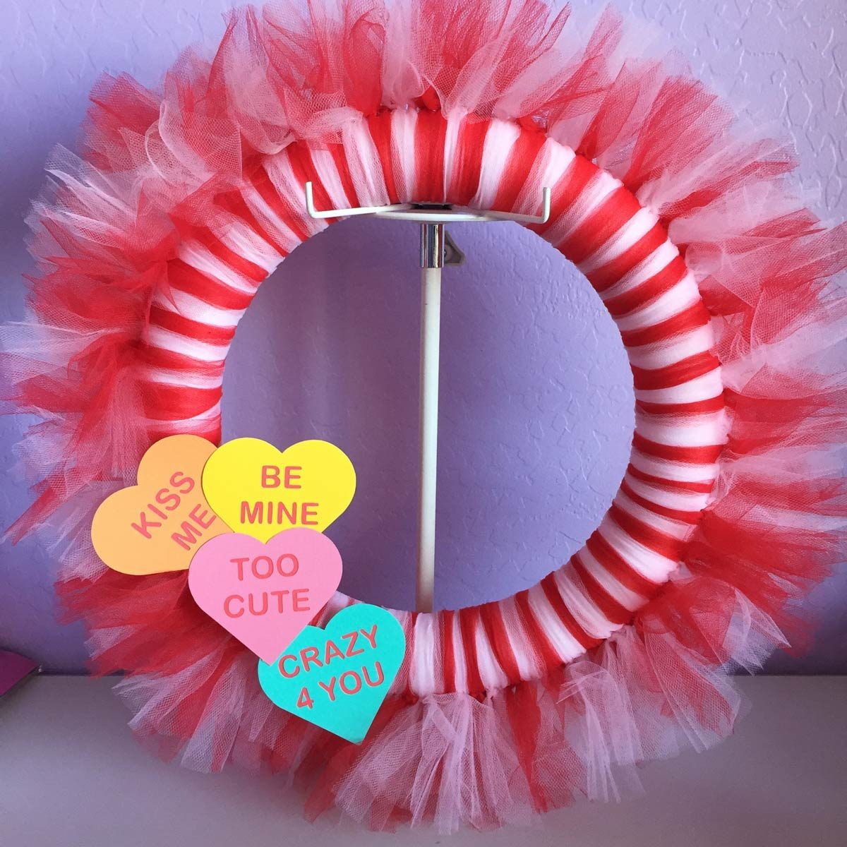 tulle valentine wreath