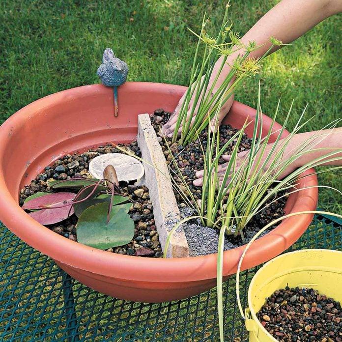 pea gravel water gardens