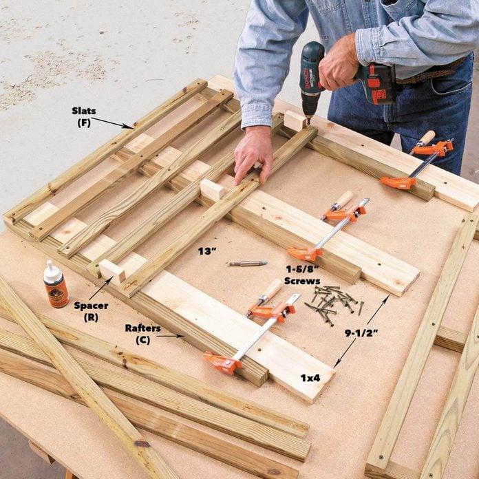 roof lattice hose reel hideaway