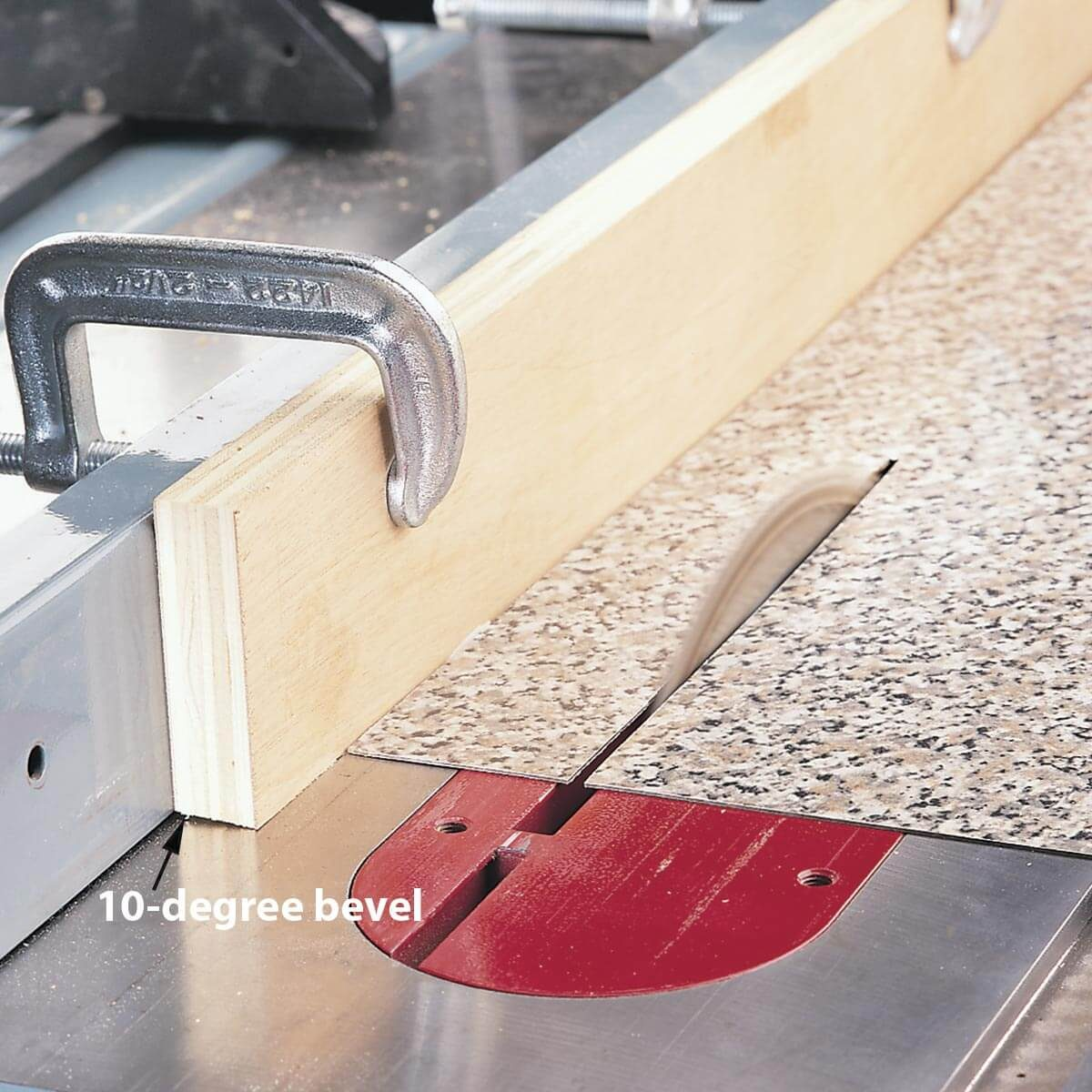 ripping laminate on a table saw