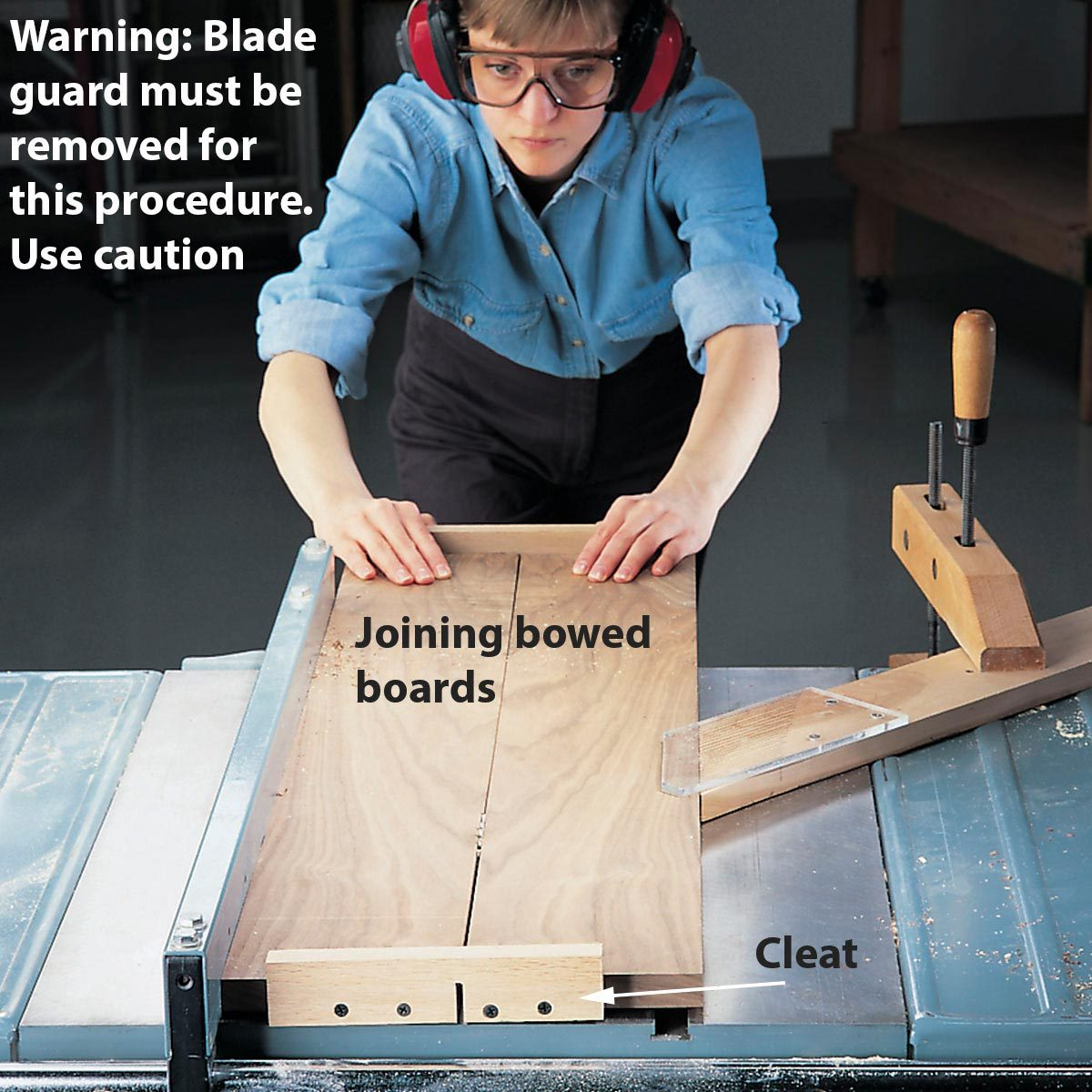fixing bowed boards