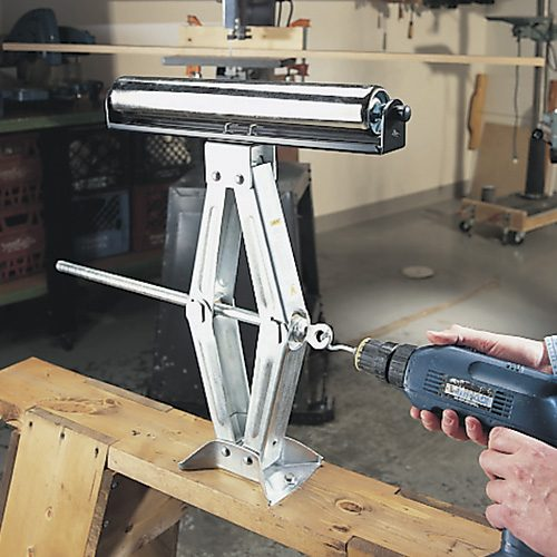raised up outfeed roller jack