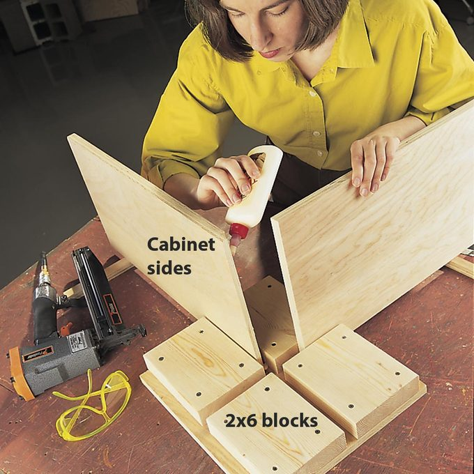 jig for holding boards for gluing