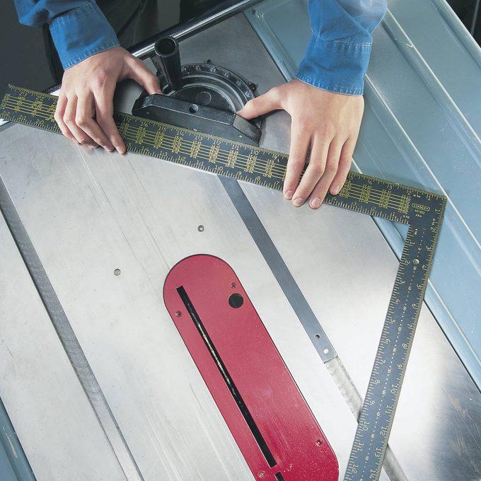 miter gauge with carpenter's square