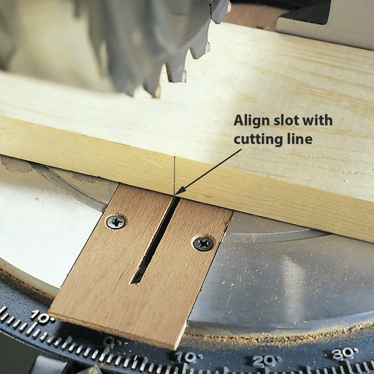 miter saw modification close up