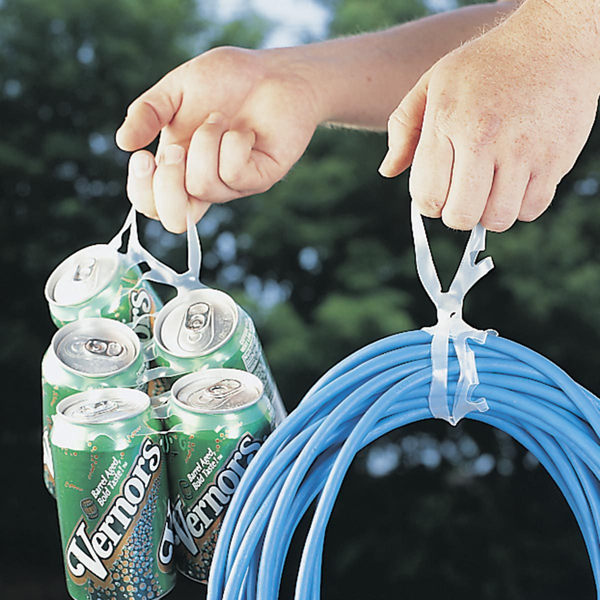 six pack cord hanger