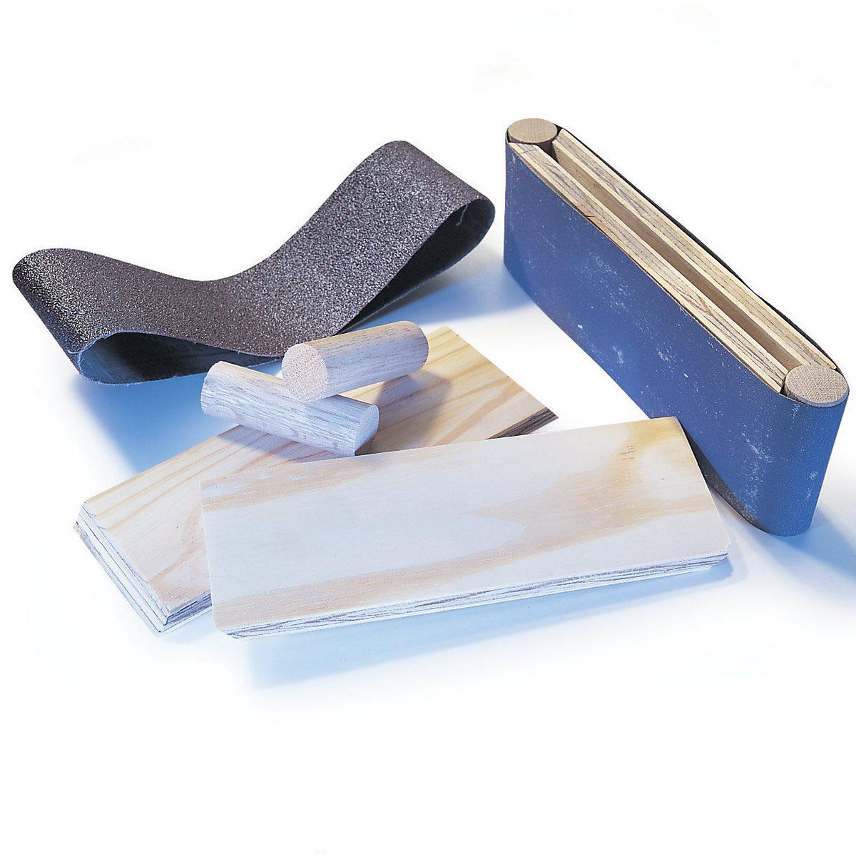 sanding block with dowels