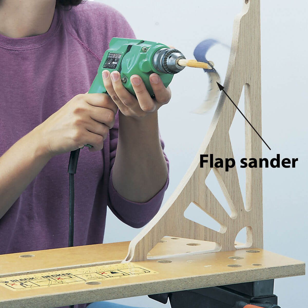 how to make a flap sander — shop tip from the family handyman