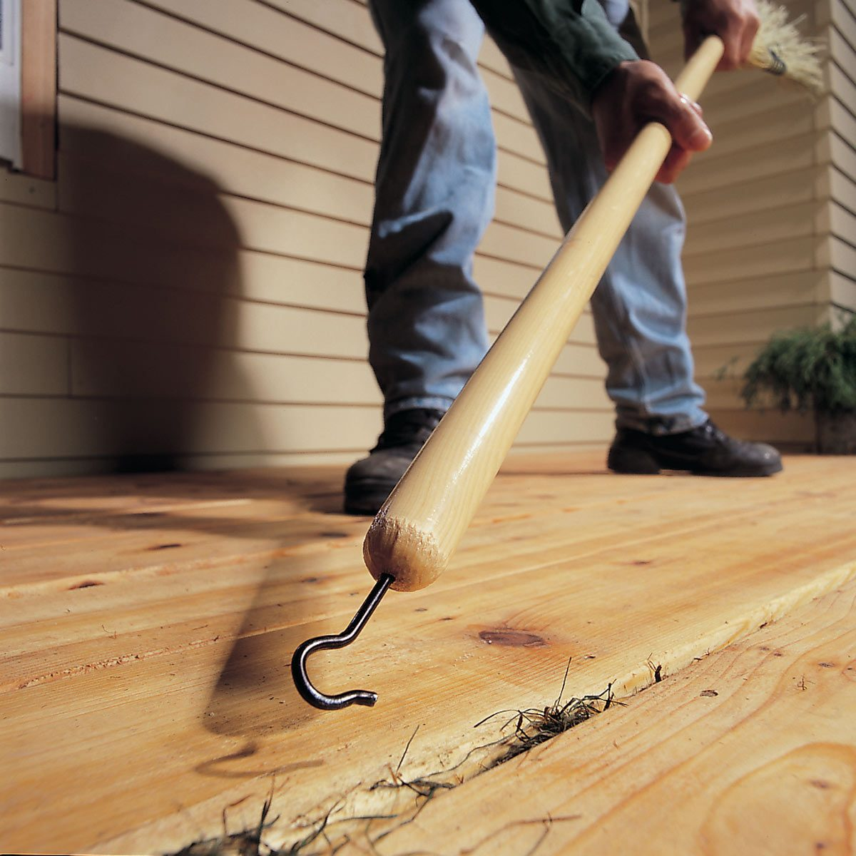 Clean The Spaces Between Your Deck Easier The Family