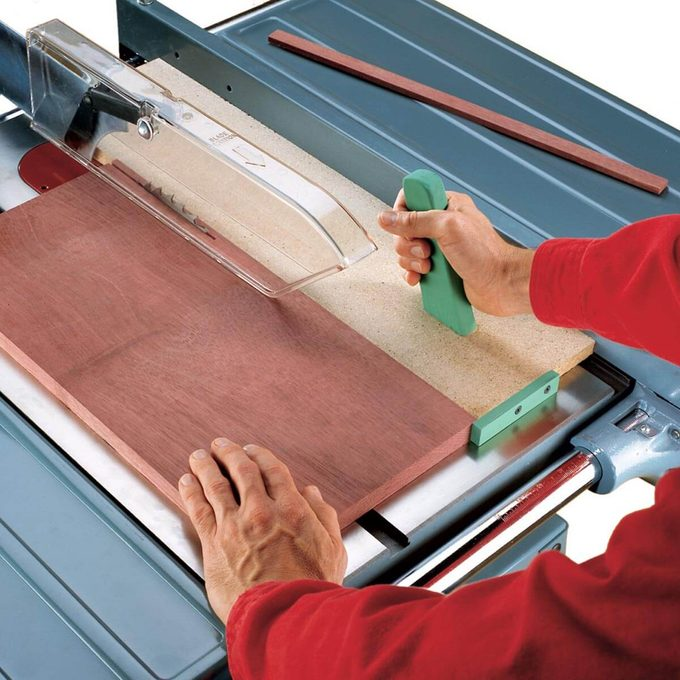 ripping thin strips the safe way