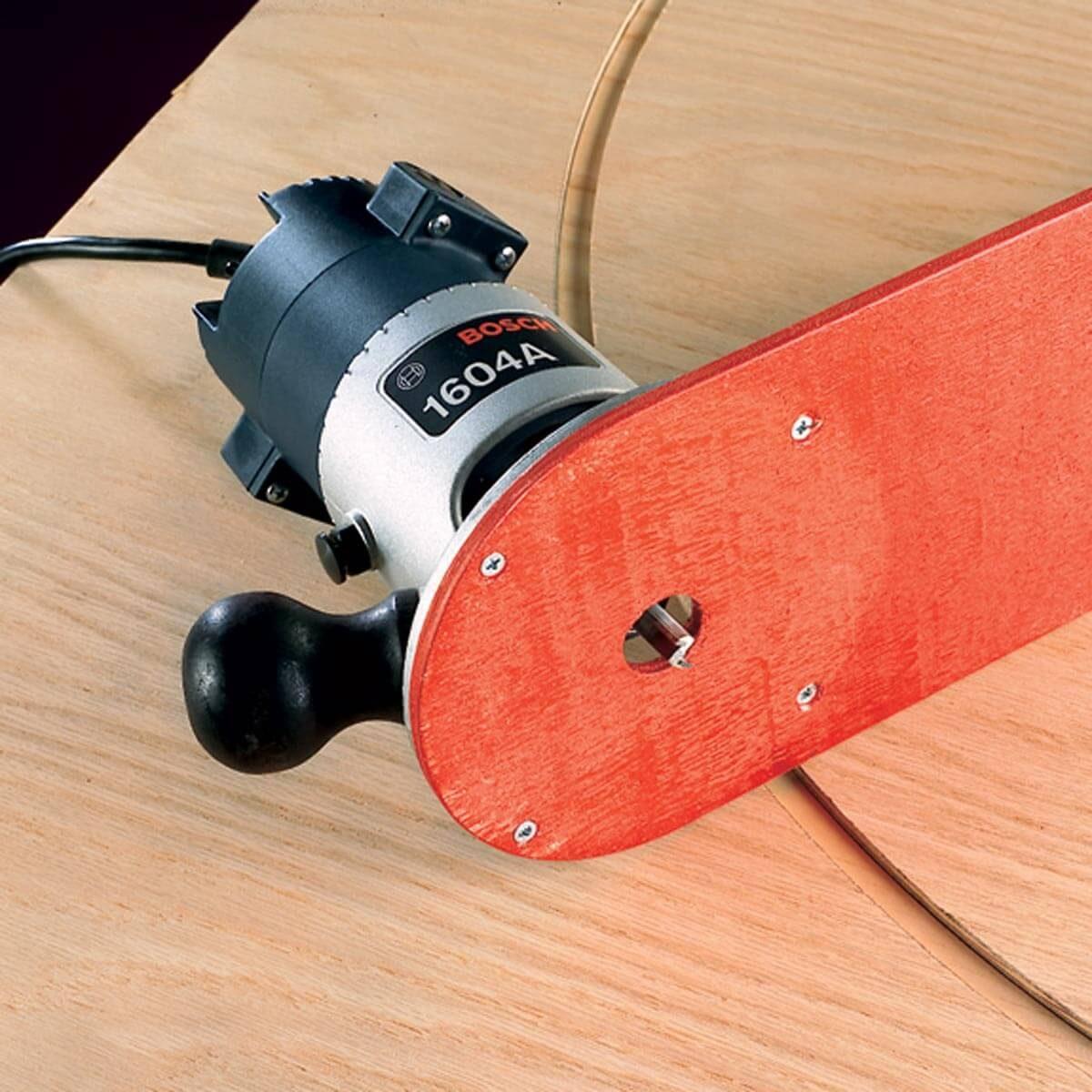 plywood compass arm big circle cuts