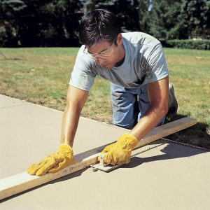 create groove in concrete for expansion