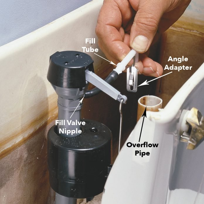 connect fill tube running toilet