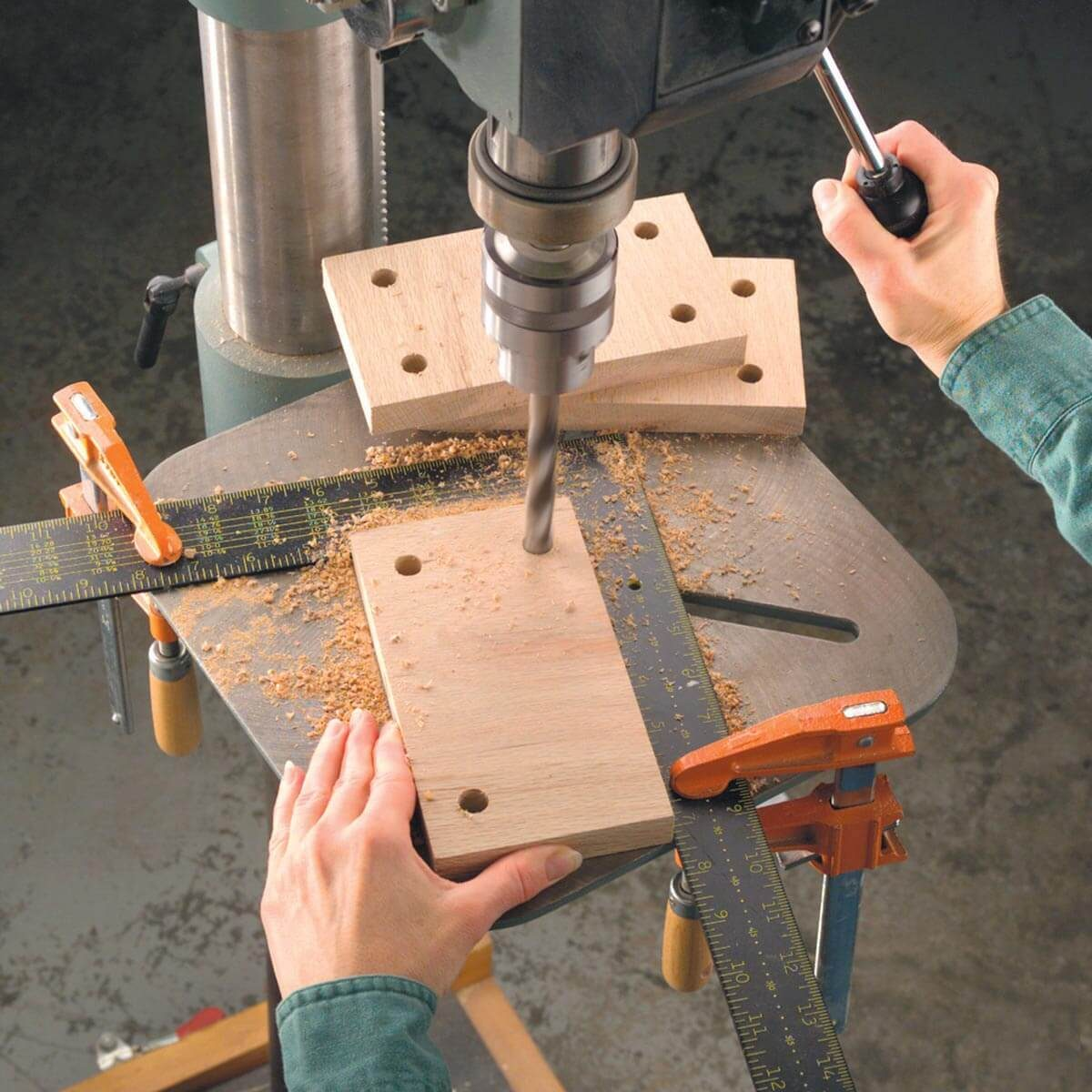 Framing square drilling jig