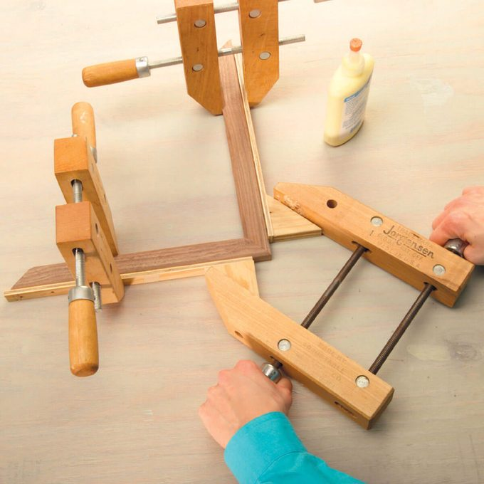 home-made miter clamps