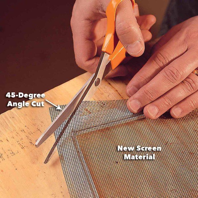 position new window screen repair