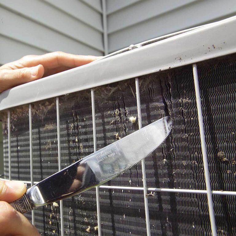 fixing ac fins with butter knife home air conditioner