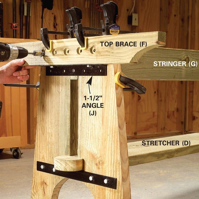 picnic table steel angle