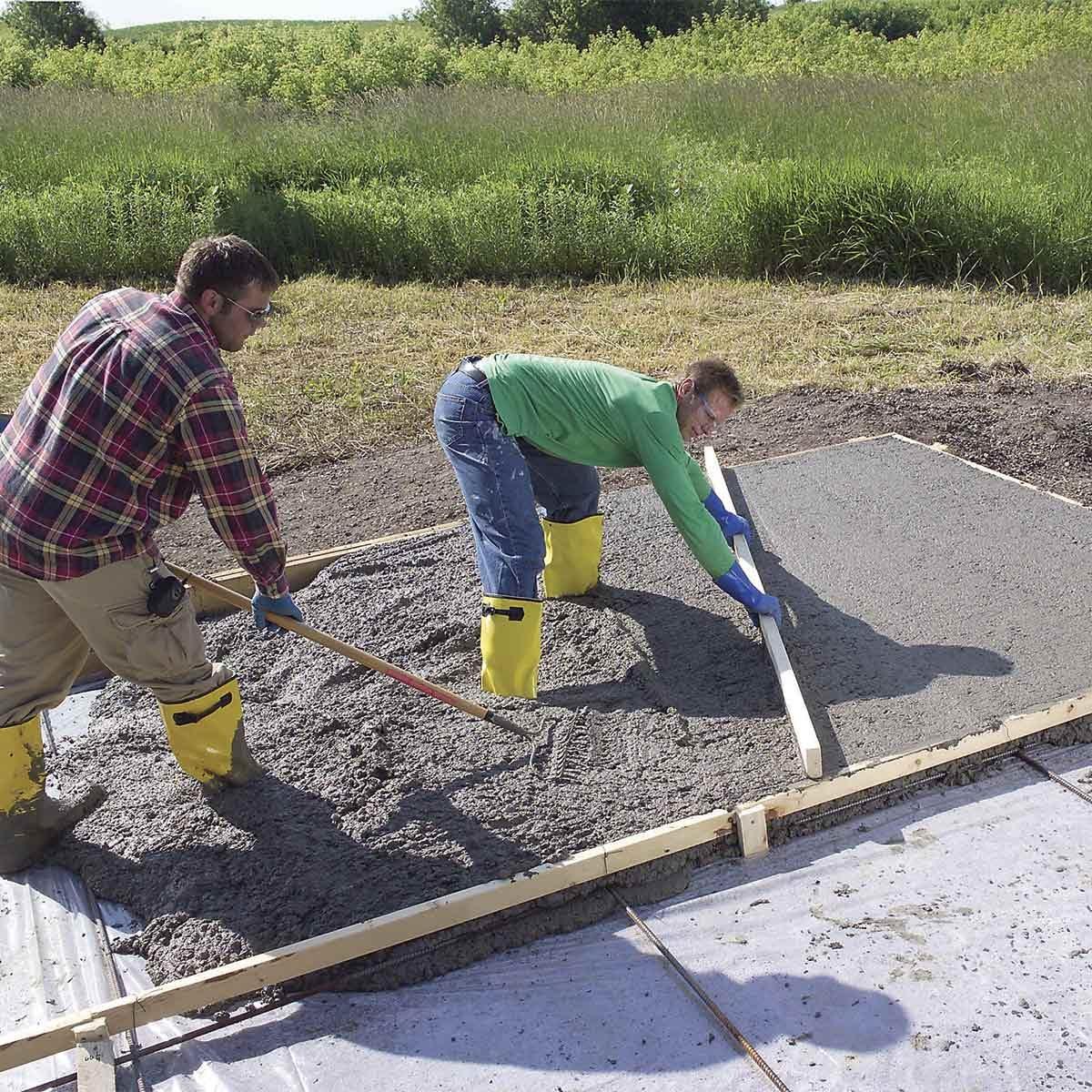 How To Pour A Concrete Slab