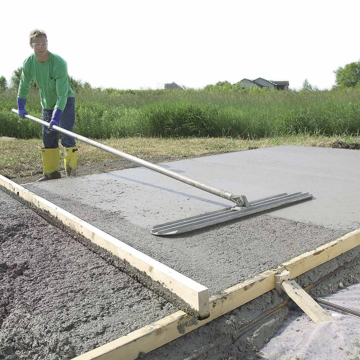 bull float concrete slab