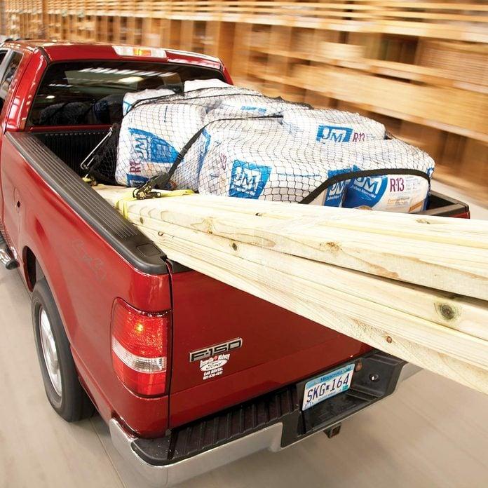 Hauling materials pick-up