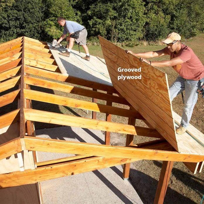 sheathe roof of shed plus shelter