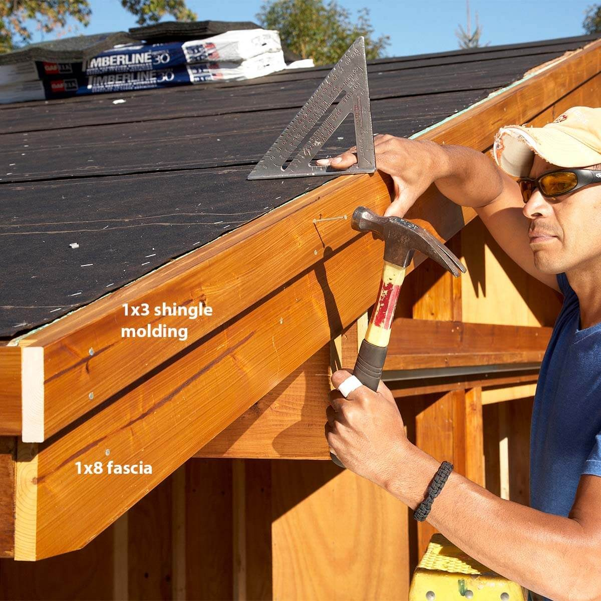 trim the shed roof