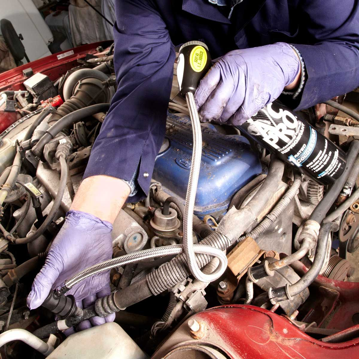 100 car maintenance tasks you can do on your own the family handyman recharge your cars air conditioner solutioingenieria Images
