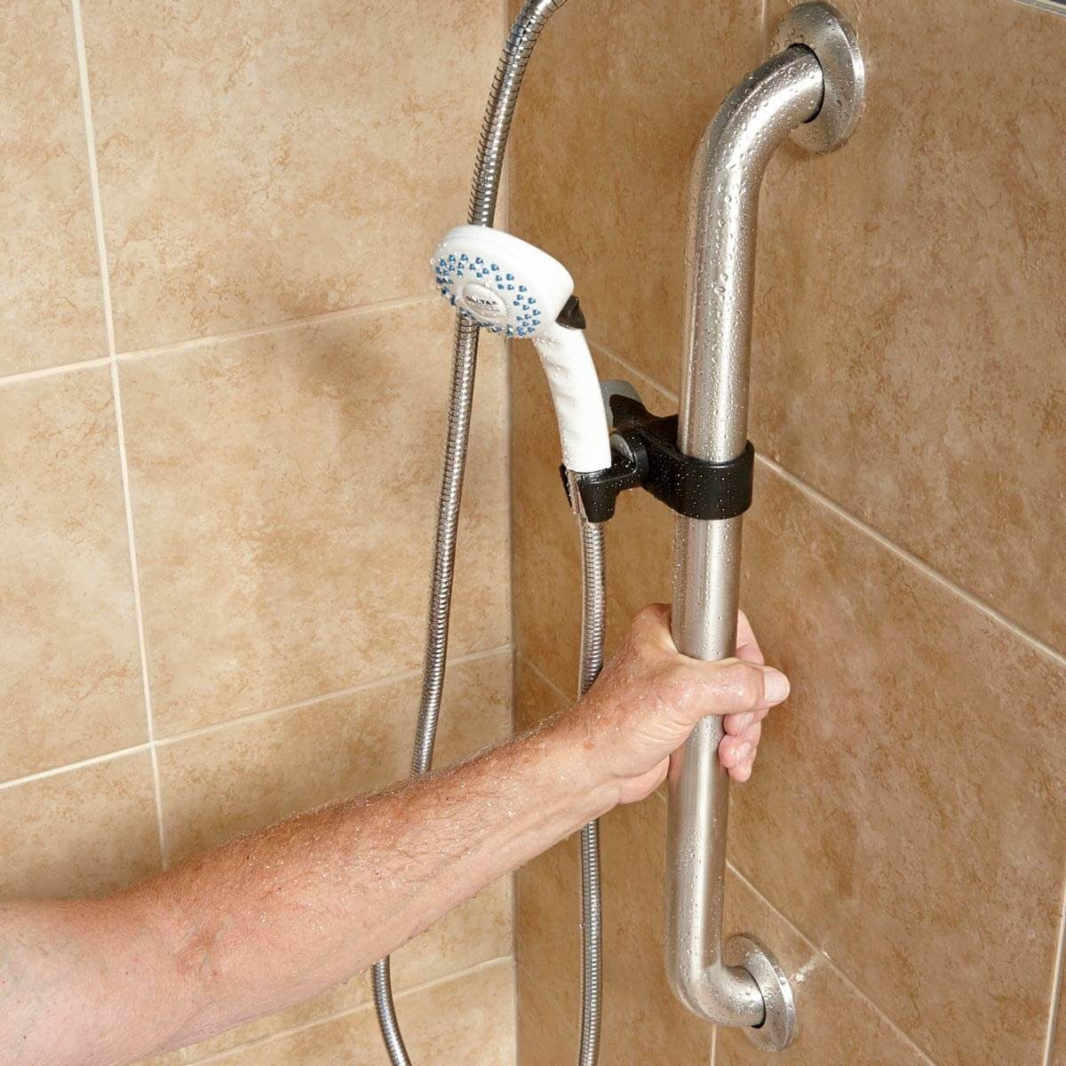 Shower hand rail