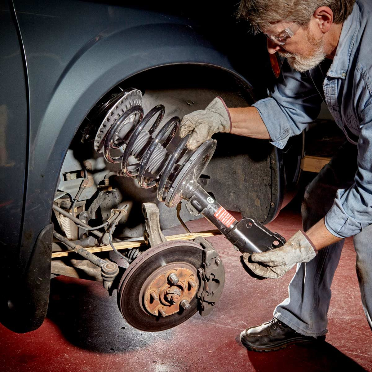 100 car maintenance tasks you can do on your own the family handyman replace struts yourself solutioingenieria Images