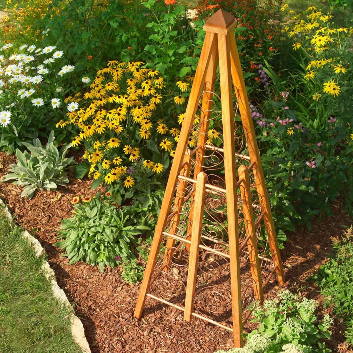 copper wire garden trellis