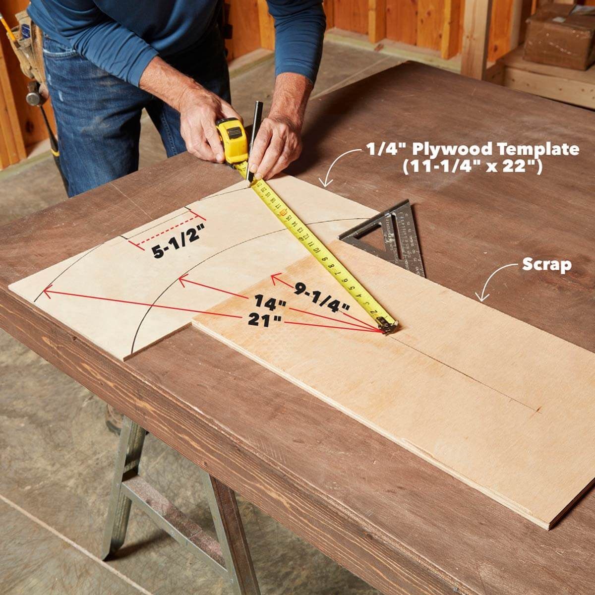 Heavy Duty Viking Bench The Family Handyman Train Horn Wiring Diagram And Table Leg Template