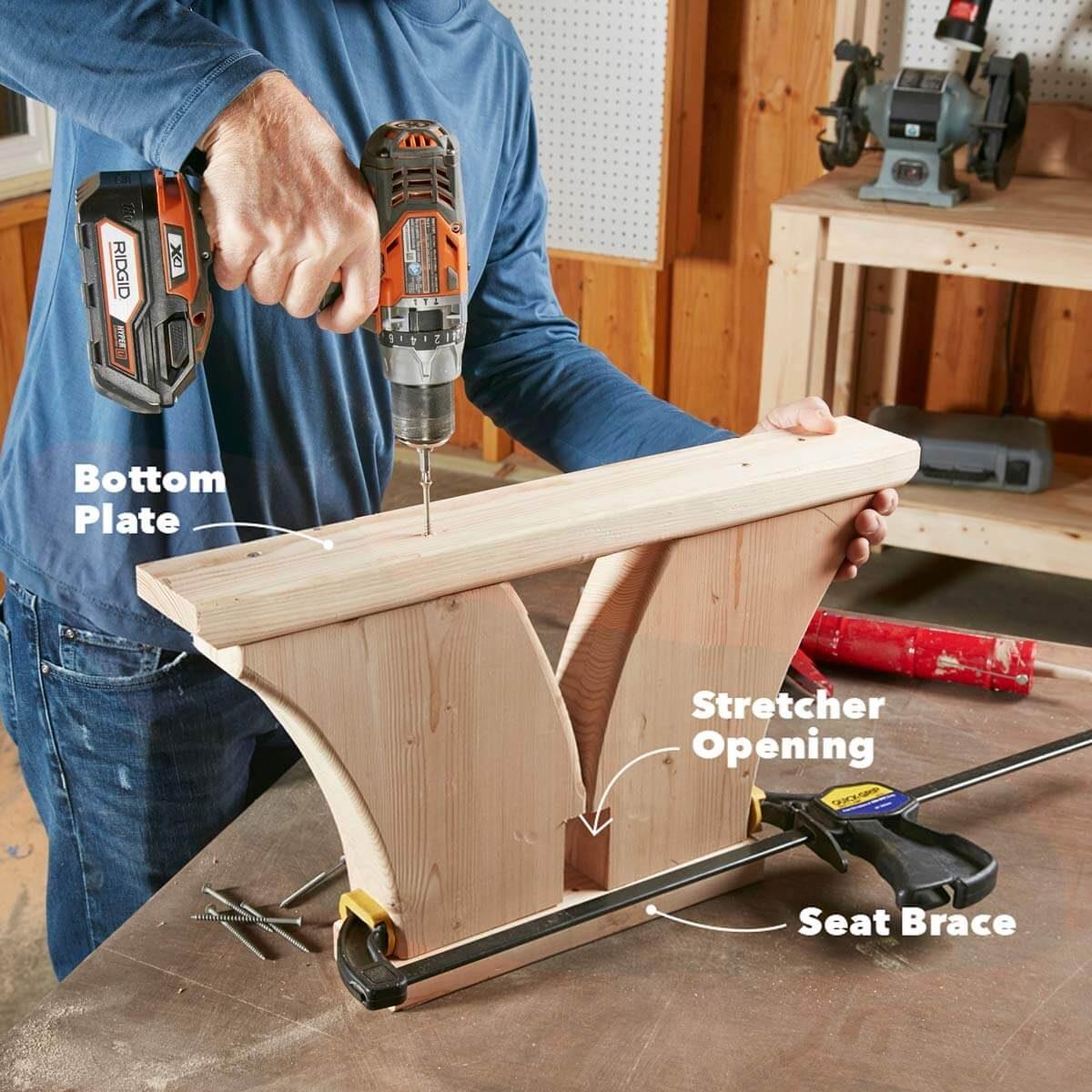 vinking bench assemble legs