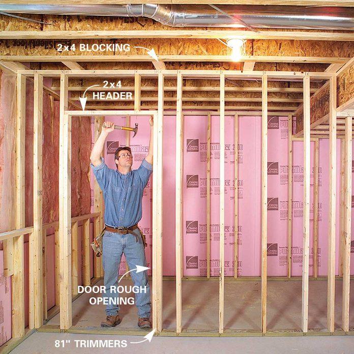 Finishing a Basement - Assemble the Wall