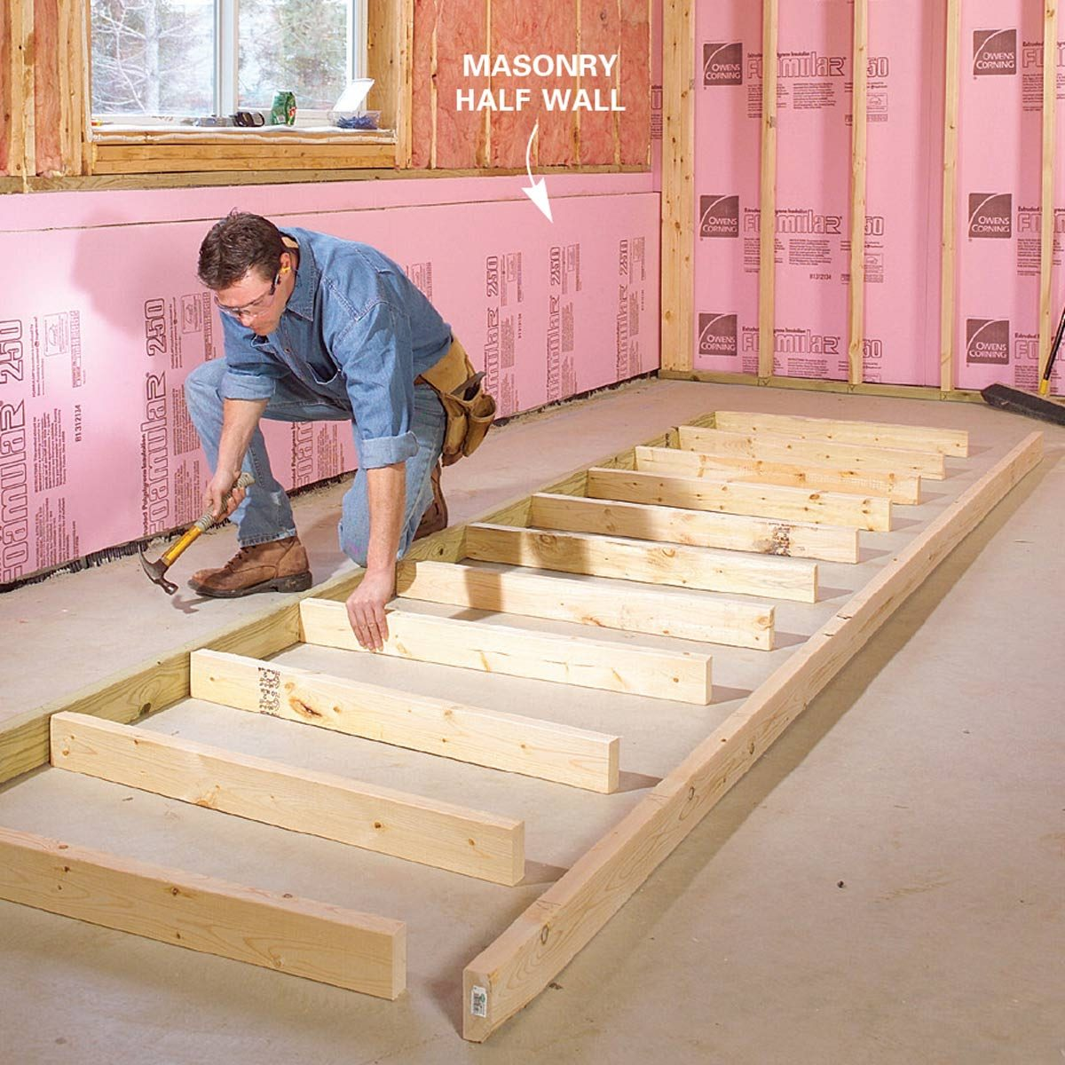 How To Finish A Basement Framing And Insulating The