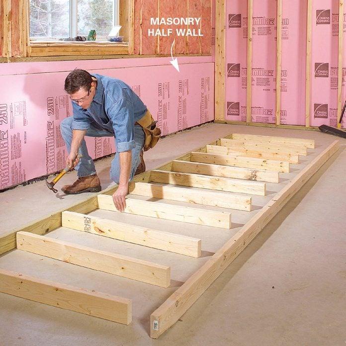 Finishing a Basement - Half-Wall Studs