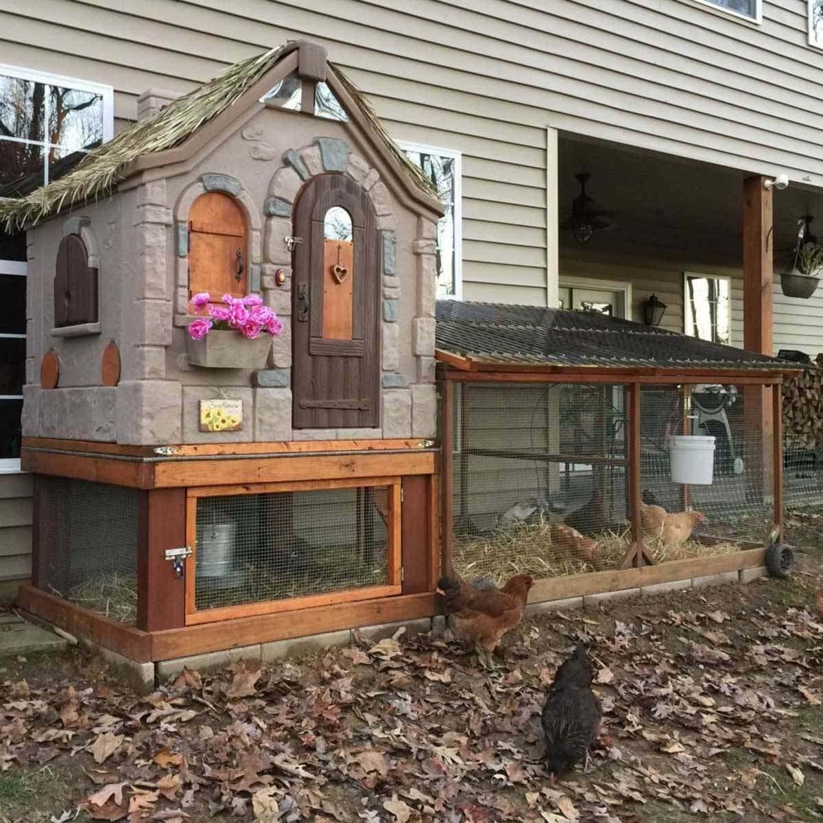 backyard chicken coop playhouse chicken coop roof