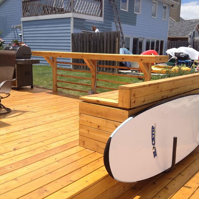 Deck with Built-in Bar and Benches