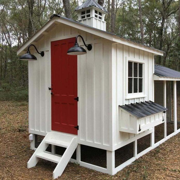 white craftsman chicken coop