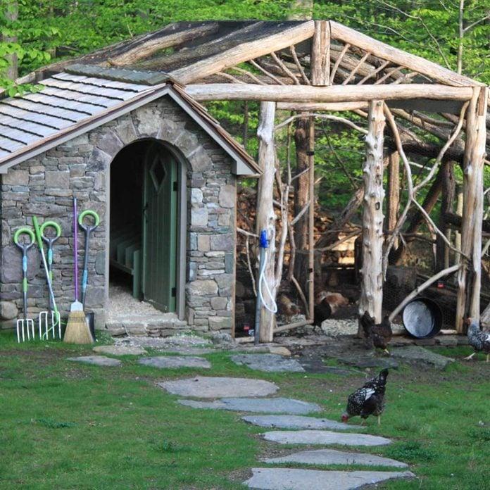 local materials chicken coop