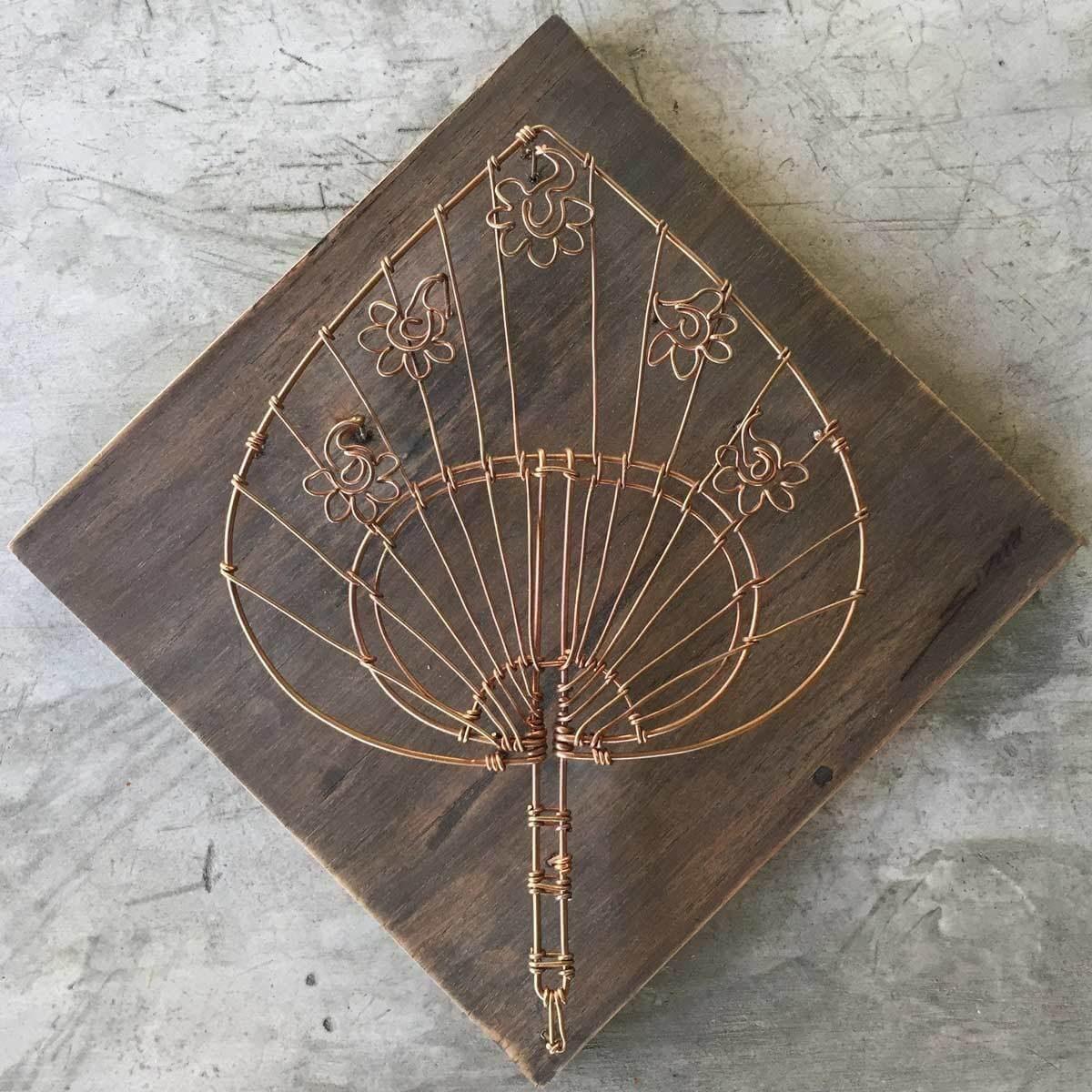 fan copper wire wall art