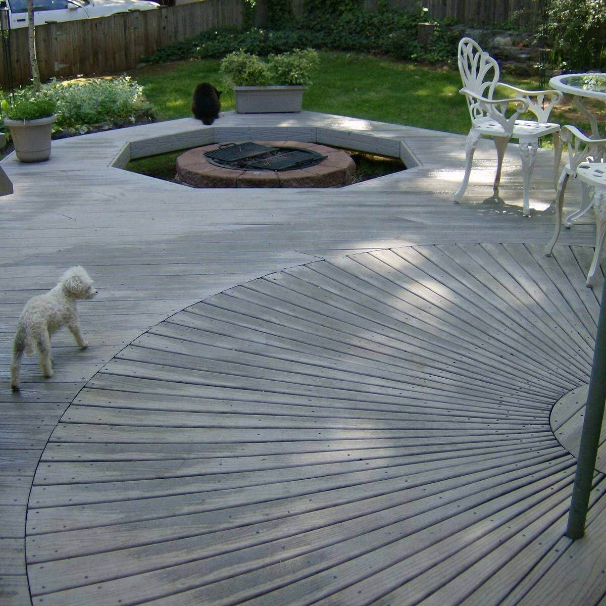 Deck with Spiral Design