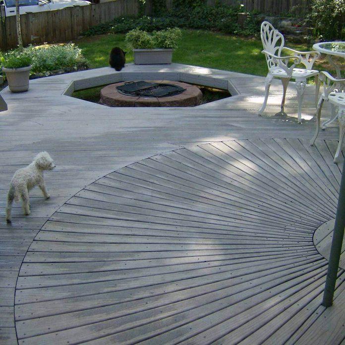 Deck with Spiral Design
