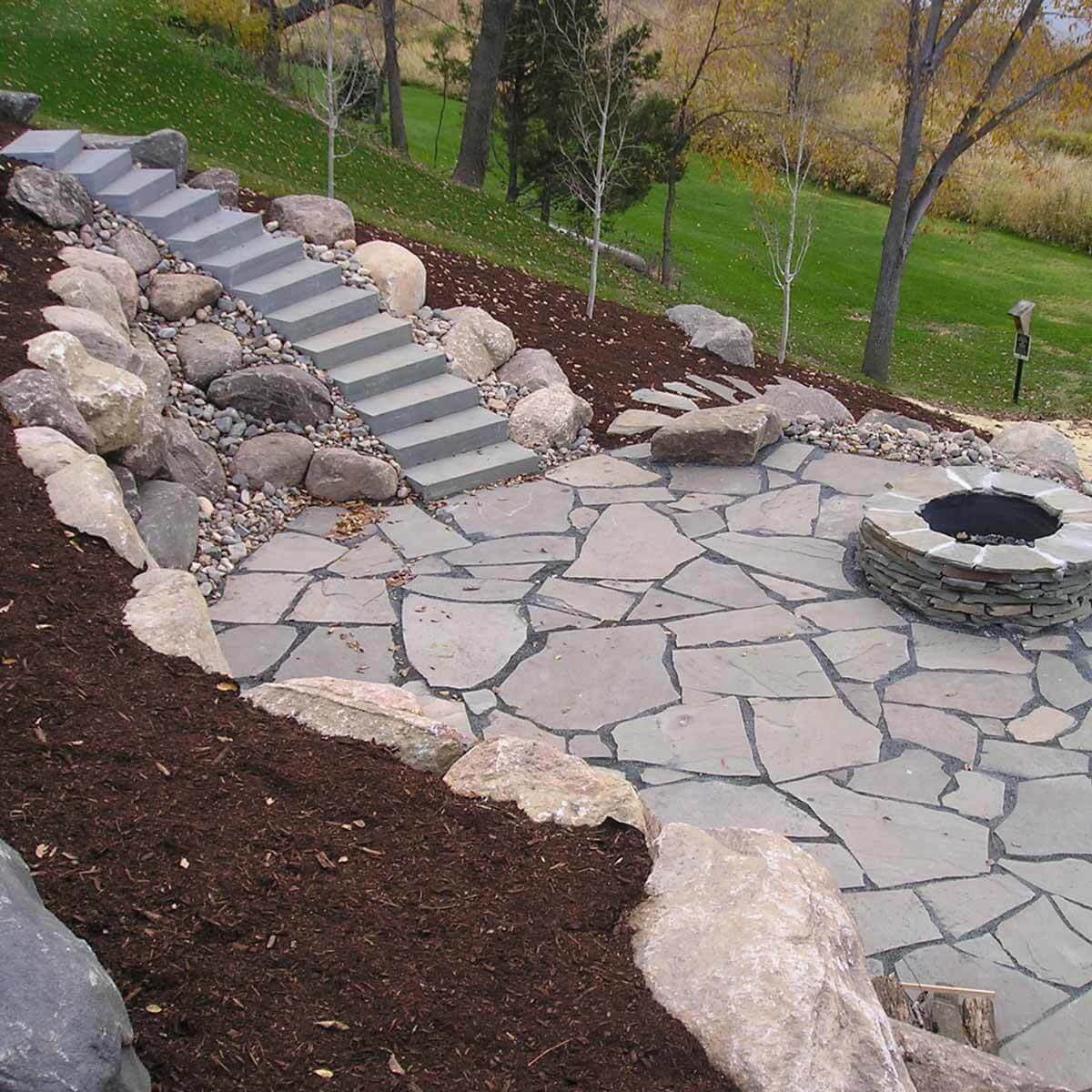 Patio with Retaining Wall backyard patio ideas