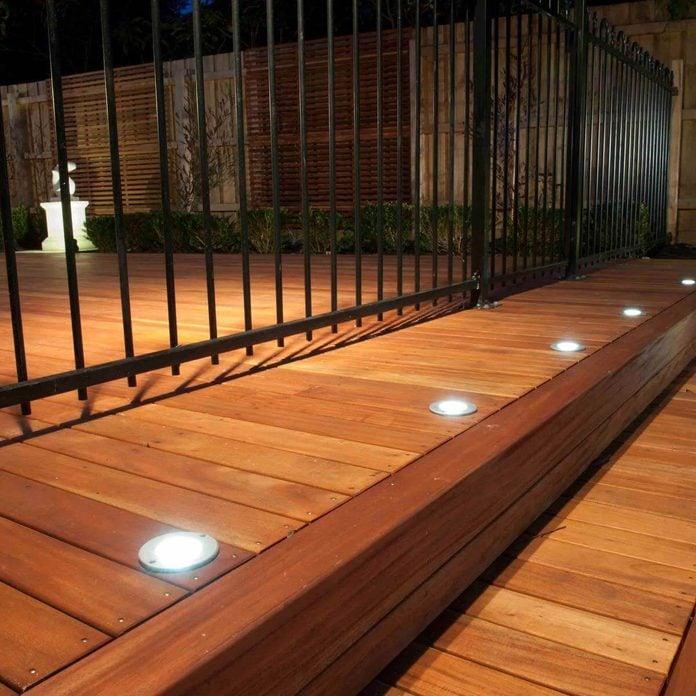 deck in floor lighting
