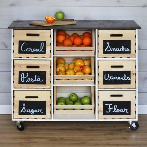 Build a Kitchen Island Cart with Crates