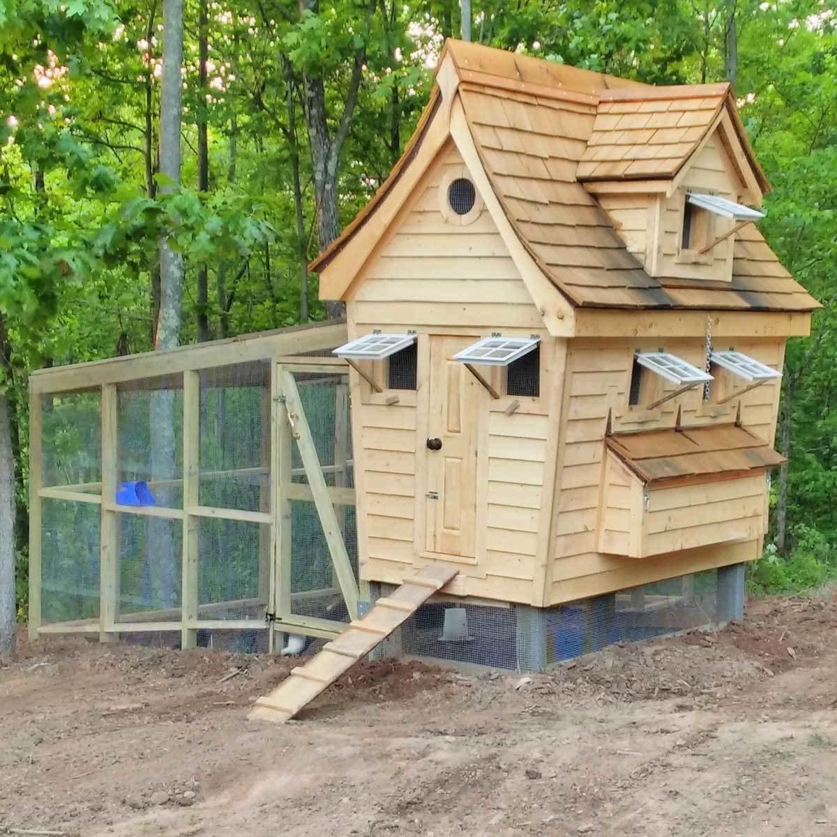 storybook style chicken coop